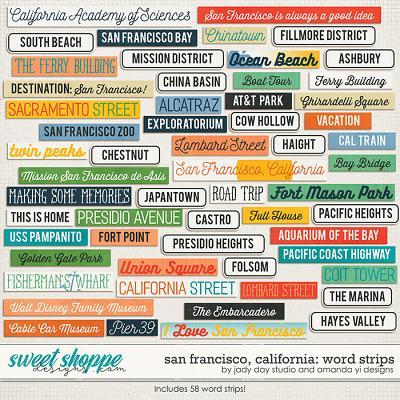 San Francisco, California : Word Strips by Jady Day Studio & Amanda Yi