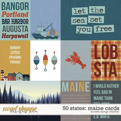 50 States: Maine Cards by Kelly Bangs Creative