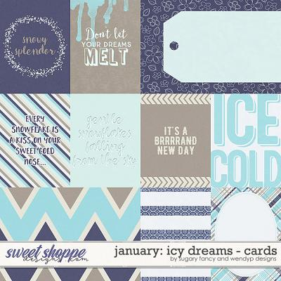 January: Icy Dreams Cards by Sugary Fancy & WendyP Designs