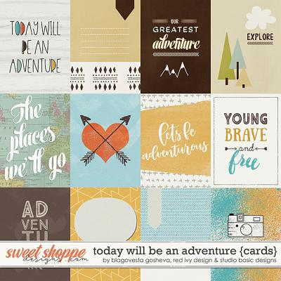 Today Will Be An Adventure Cards by Blagovesta Gosheva, Red Ivy and Studio Basic