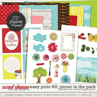 Picnic in the Park: Easy Print Pack 2 by Amber Shaw & Kelly Bangs Creative