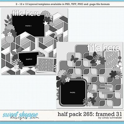 Cindy's Layered Templates - Half Pack 265: Framed 31 by Cindy Schneider