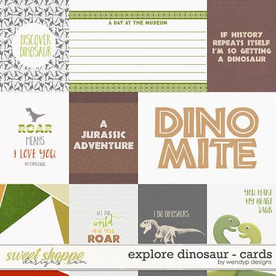 Explore dinosaur - Cards
