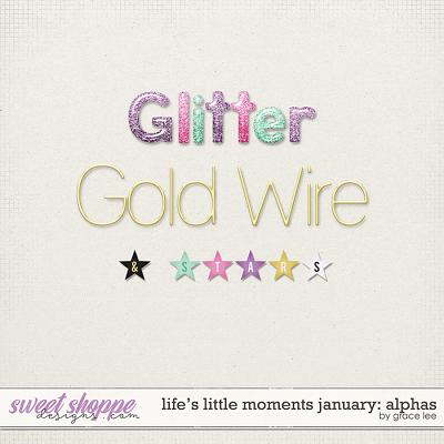 Life's Little Moments January Alphas by Grace Lee