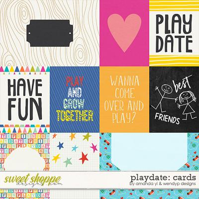 Playdate - cards by Amanda Yi & WendyP Designs