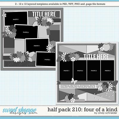 Cindy's Layered Templates - Half Pack 210: Four of a Kind by Cindy Schneider