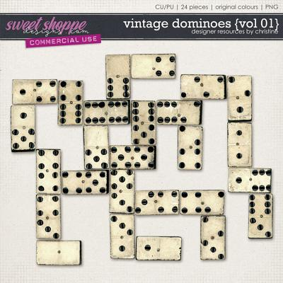 Vintage Dominoes {Vol 01} by Christine Mortimer