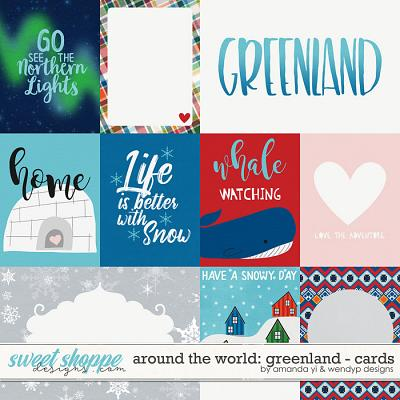 Around the world: Greenland - Cards by Amanda Yi & WendyP Designs