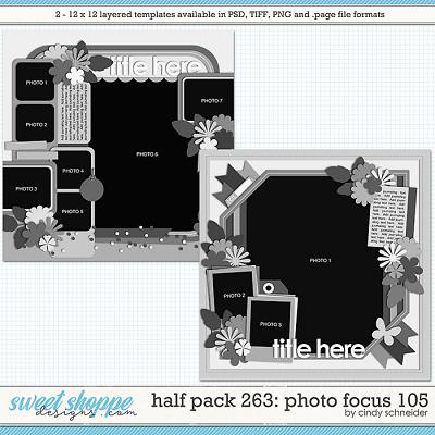 Cindy's Layered Templates - Half Pack 263: Photo Focus 105 by Cindy Schneider