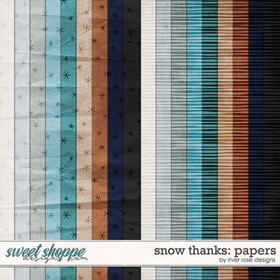 Snow Thanks: Papers by River Rose Designs