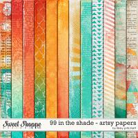 99 In The Shade Artsy Paper Pack by Libby Pritchett