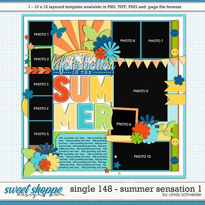 Cindy's Layered Templates - Single 148: Summer Sensations 1 by Cindy Schneider