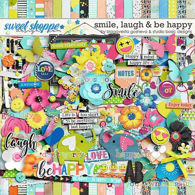 Smile, Laugh & Be Happy Kit by Blagovesta Gosheva and Studio Basic