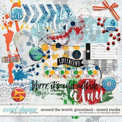 Around the world: Greenland - Mixed Media by Amanda Yi & WendyP Designs