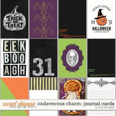 CADAVEROUS CHARM | JOURNAL CARDS by The Nifty Pixel