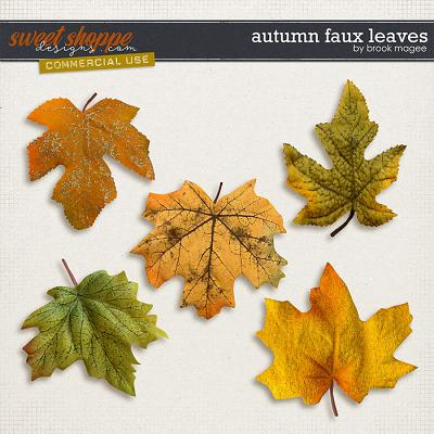 Autumn Faux Leaves - CU - by Brook Magee