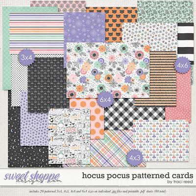 Hocus Pocus Patterned Cards by Traci Reed