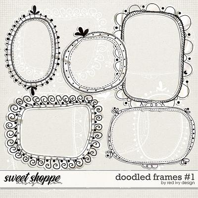 Doodled Frames #1 by Red Ivy Design
