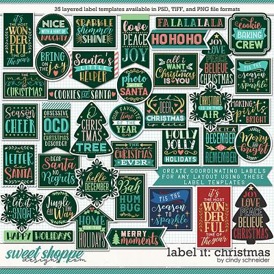 Cindy's Layered Templates - Label It: Christmas by Cindy Schneider