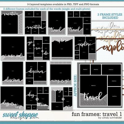 Cindy's Layered Templates - Fun Frames: Travel 1 by Cindy Schneider