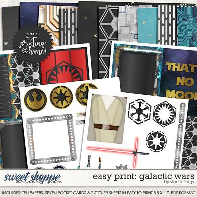 Easy Print: believe in magic- GALACTIC WARS by Studio Flergs