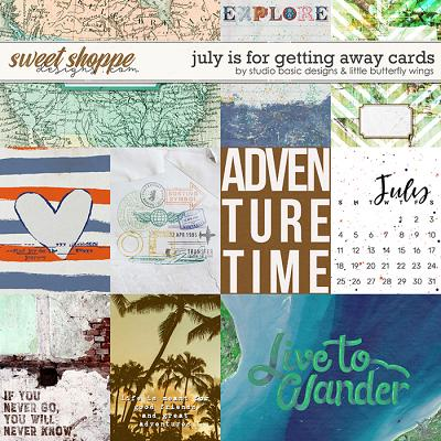 July Is For Getting Away Cards by Studio Basic & Little Butterfly Wings