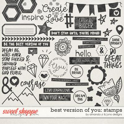 Best Version Of You: Stamps by Amanda Yi & Juno Designs
