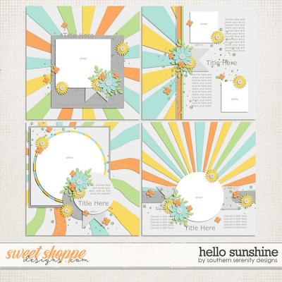Hello Sunshine Layered Templates by Southern Serenity Designs