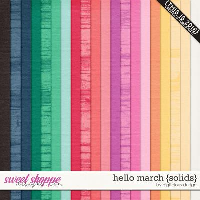 Hello March {Solids} by Digilicious Design