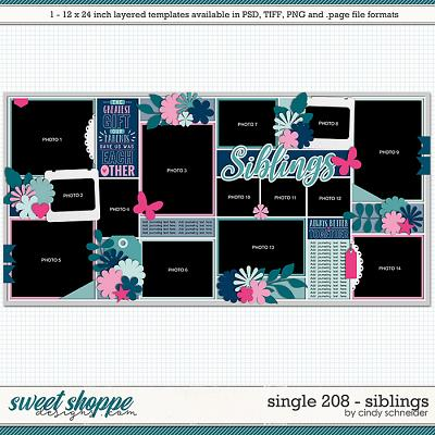 Cindy's Layered Templates - Single 208: Siblings by Cindy Schneider