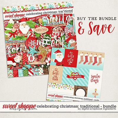 Celebrating Christmas: Traditional Bundle by Digital Scrapbook Ingredients