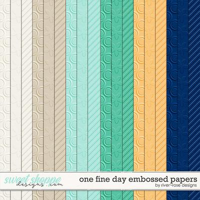 One Fine Day Embossed Papers by River Rose Designs