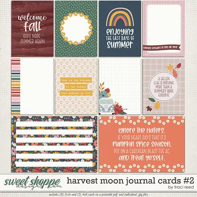 Harvest Moon Journal Cards #2 by Traci Reed