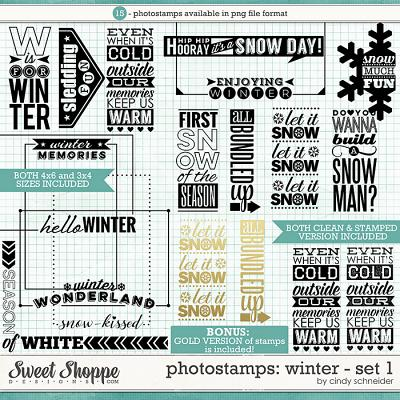 Cindy's Photostamps - Winter Set 1 by Cindy Schneider