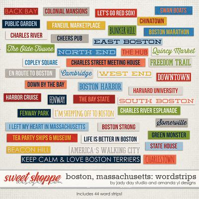 Boston, Massachusetts : Word Strips by Jady Day Studio & Amanda Yi