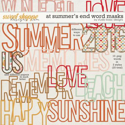 At Summer's End Word Masks by Studio Basic