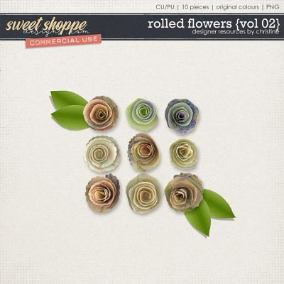 Rolled Flowers {Vol 02} by Christine Mortimer