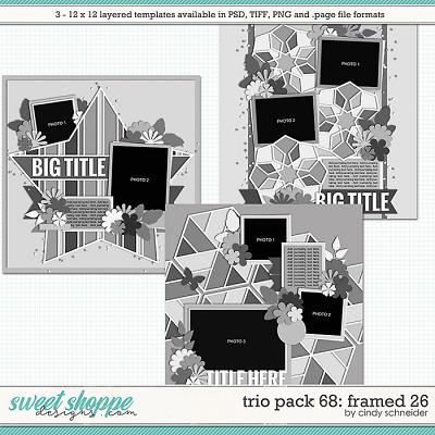 Cindy's Layered Templates - Trio Pack 58: Framed 26 by Cindy Schneider