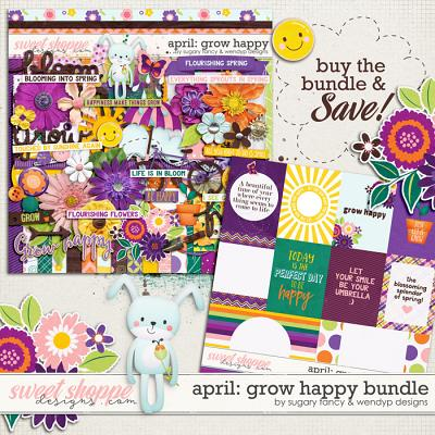 April: Grow happy - Bundle by Sugary Fancy and WendyP Designs