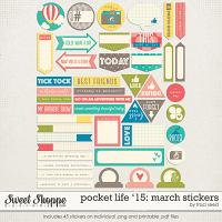 Pocket Life '15: March Stickers by Traci Reed