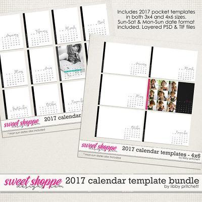 2017 Calendar Template Bundle by Libby Pritchett
