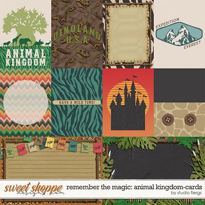 Remember the Magic: ANIMAL KINGDOM- CARDS by Studio Flergs