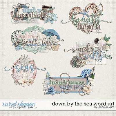 Down by the Sea Word Art by JoCee Designs