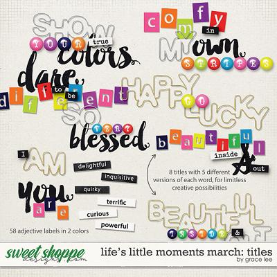 Life's Little Moments March Titles by Grace Lee
