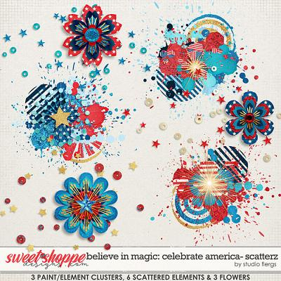 Believe in Magic: CELEBRATE AMERICA- SCATTERZ by Studio Flergs
