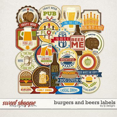 Burgers and Beers Labels by LJS Designs