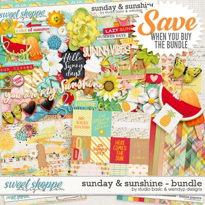 Sunday & Sunshine Bundle by Studio Basic & WendyP Designs