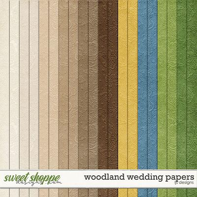 Woodland Wedding Papers by LJS Designs