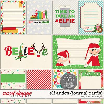 Elf Antics Journal Cards by Ponytails