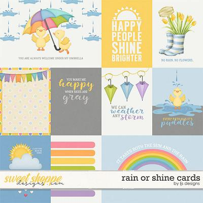 Rain Or Shine Cards by LJS Designs